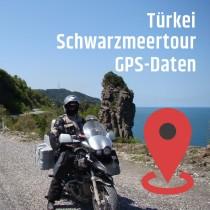 GPS-Daten für Motorrad Reisen in der Türkei am schwarzen Meer zum Planen.