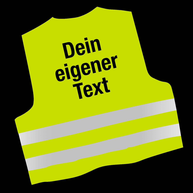 Warnweste mit Deinem eigenen Text