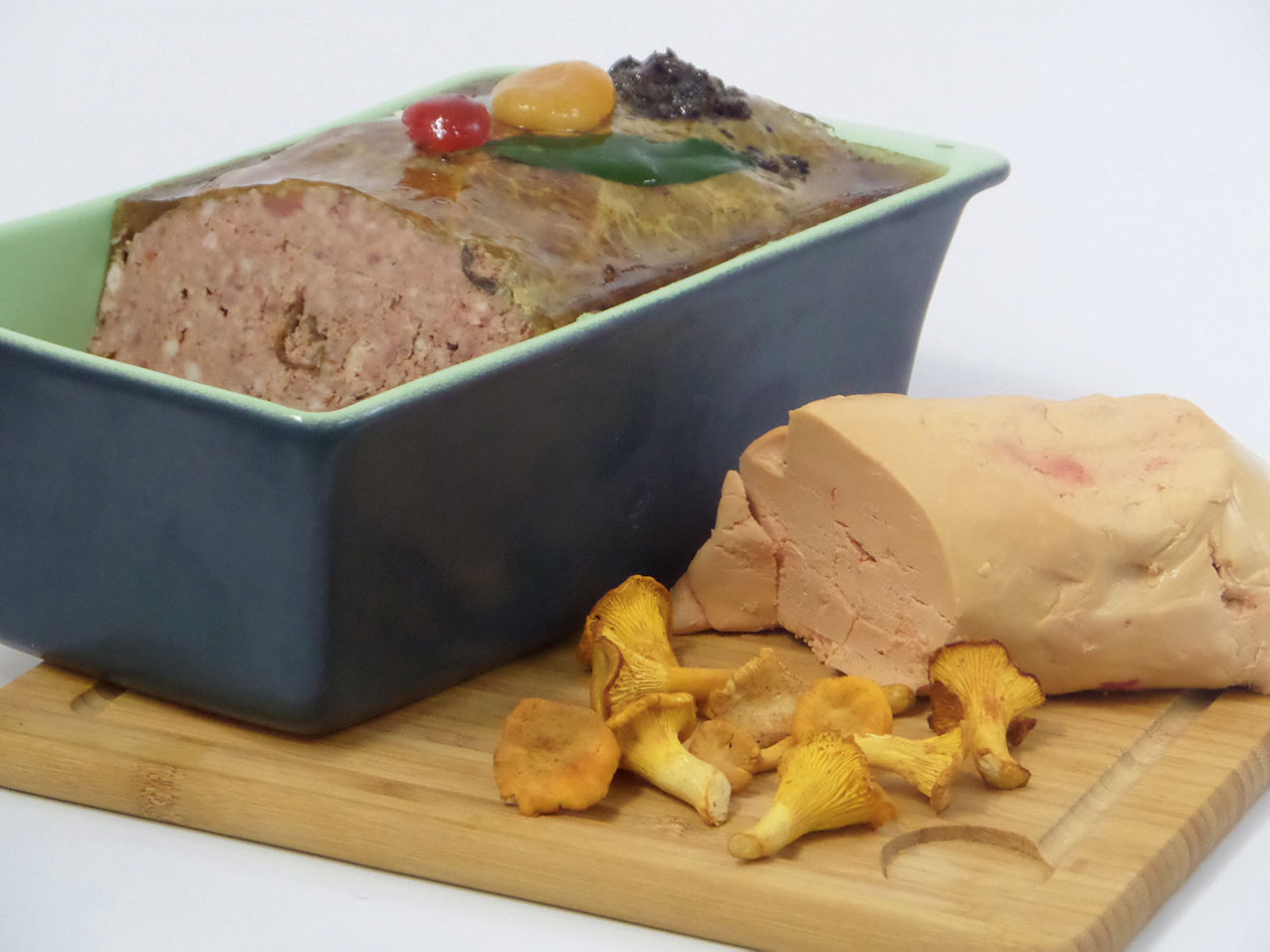 Pork paté whith foie Gras and chanterelles