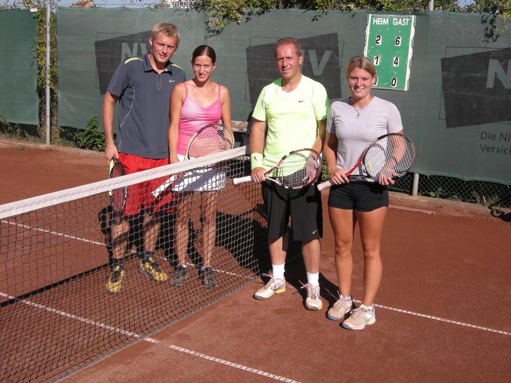 Finalisten Mixed-Doppel A-Bewerb: Joe Zeitlberger, Verena Wild, Dietmar Alfons, Bianca Schiffauer