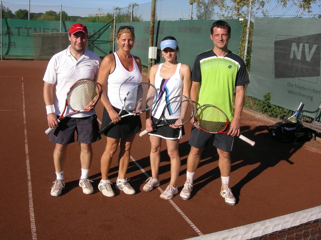 Finalisten Mixed-Doppel B-Bewerb: Martin Würz, Annemarie Maier, Veronika Tragschitz, Jürgen Tragschitz