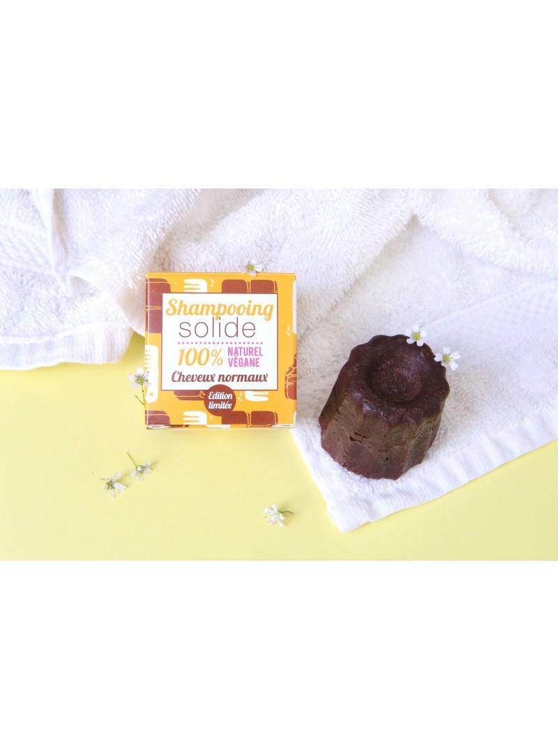 Shampoing Solide Naturel pour Cheveux Normaux au Chocolat. Végan. Lamazuna. 9,90 €