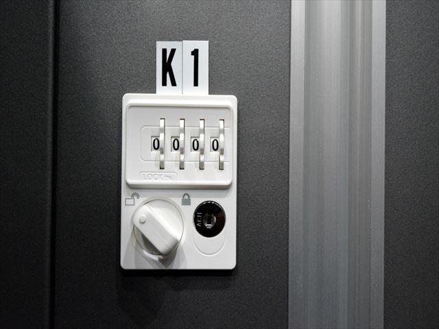 ナンバーキーで鍵が不要!