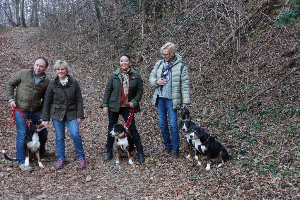 Spaziergang mit Berle und Bounty
