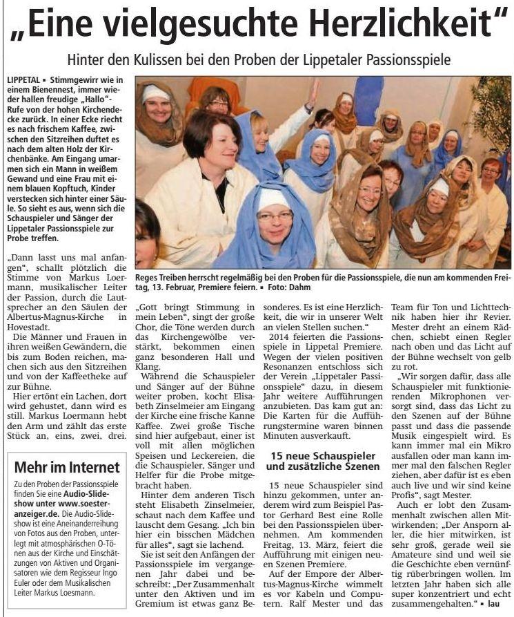 Bericht Soester Anzeiger vom 11.03.2015