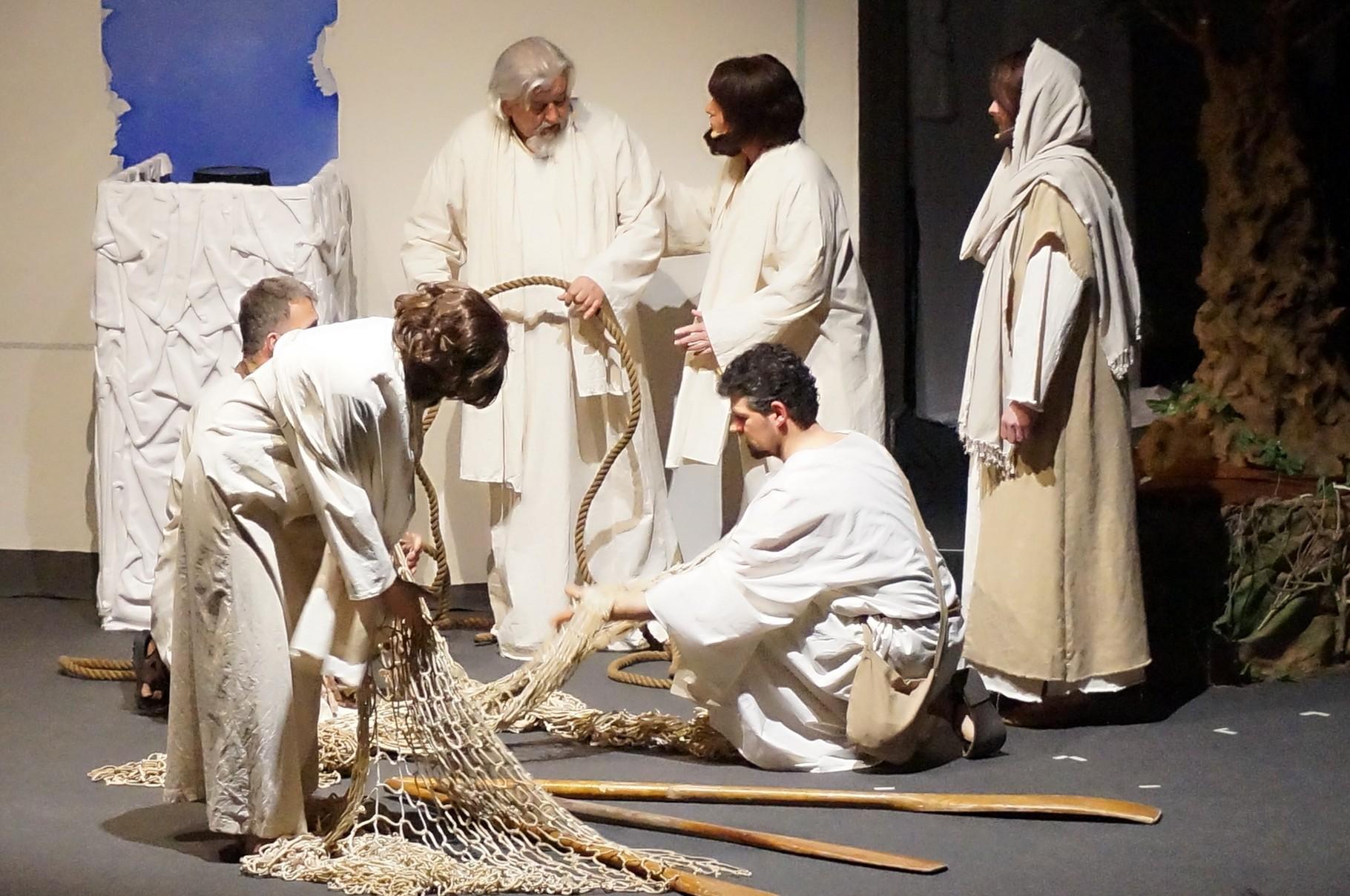 Jesus bei den Fischern am See Genesaret