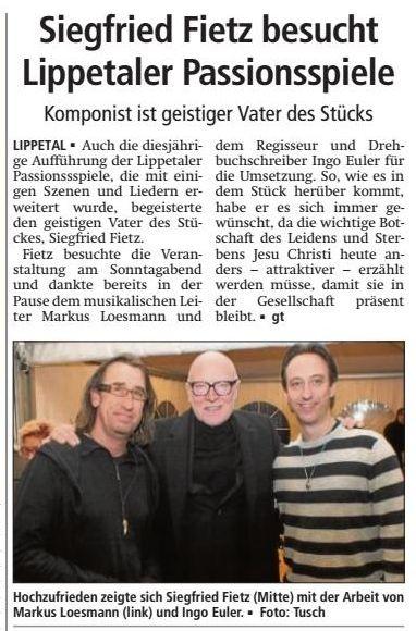 Bericht Soester Anzeiger vom 24.03.2015