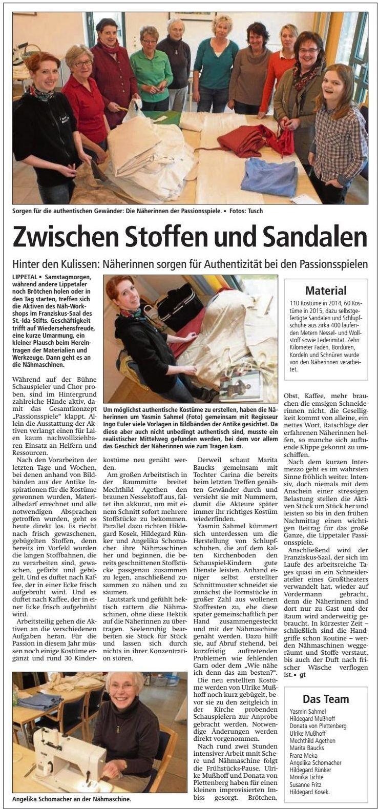 Bericht Soester Anzeiger vom 04.03.2015