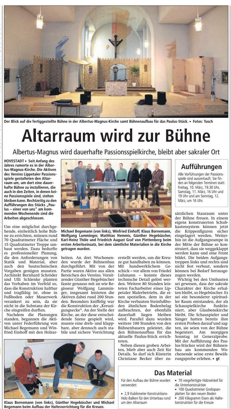 Bericht Soester Anzeiger vom 04.03.2017