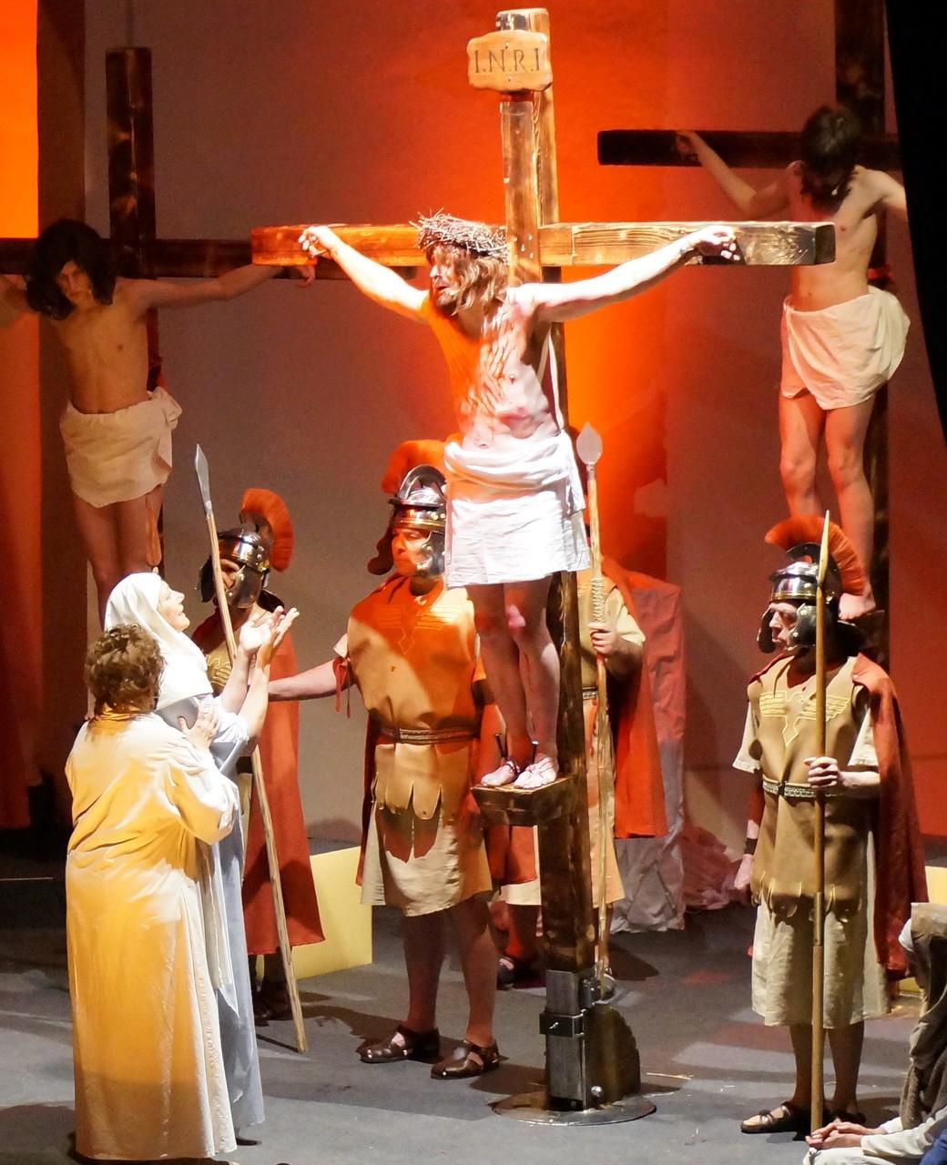 Maria und Johannes unter dem Kreuz