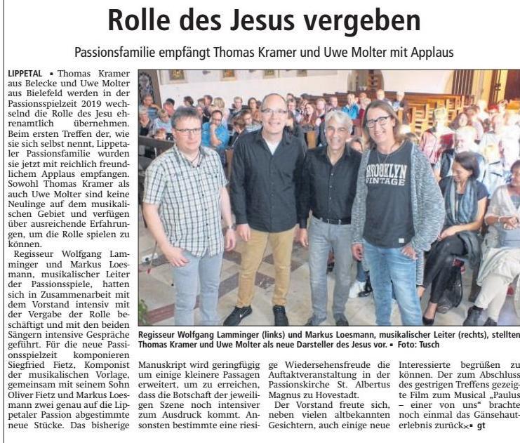 Bericht Soester Anzeiger vom 16.10.2017