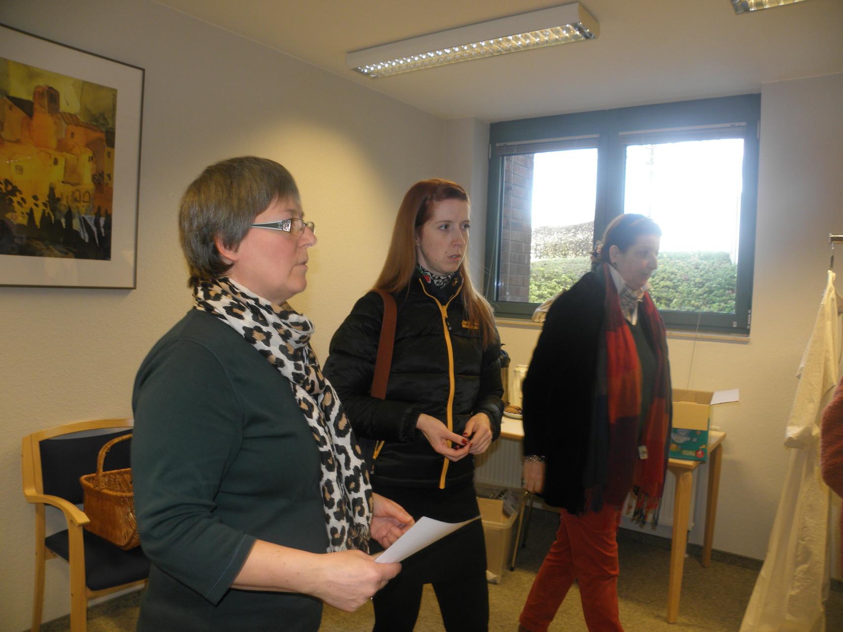 Hildegard Mußhoff, Yasmin Sahmel und Donata von Plettenberg