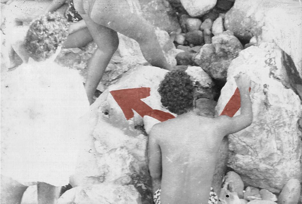 Julio Dominguez inicia la intervención plástica en el paisaje