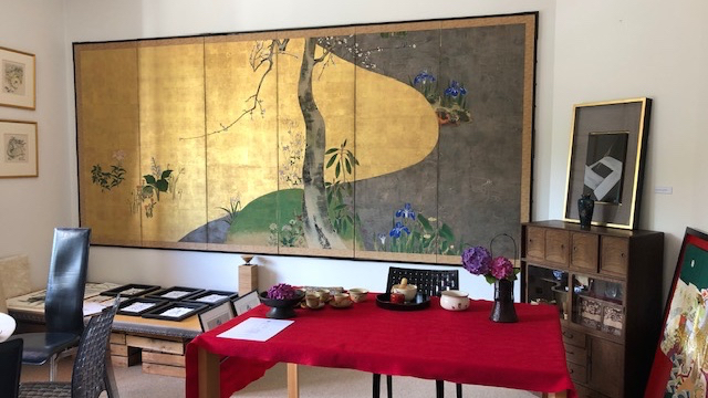 Japanese Antique Screen, Rinpa