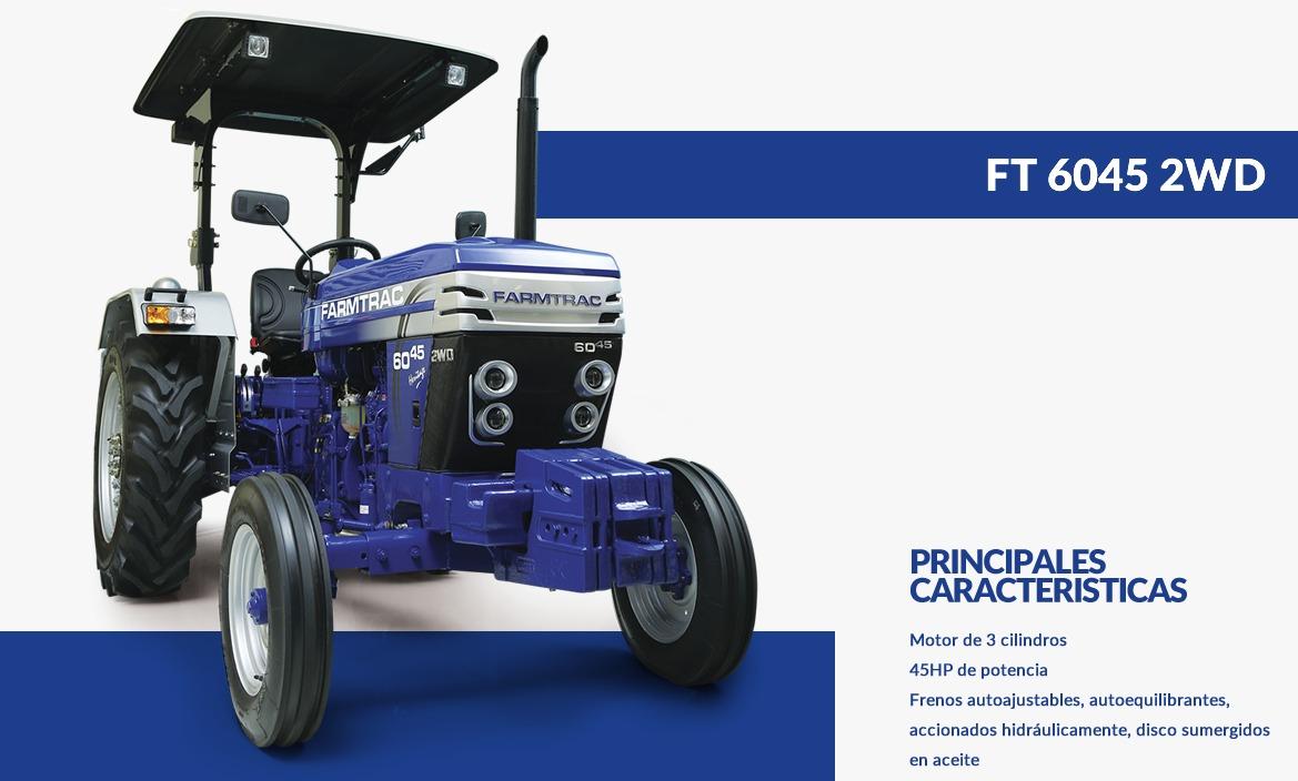FARMTRAC- TRACTOR 6045 2WD