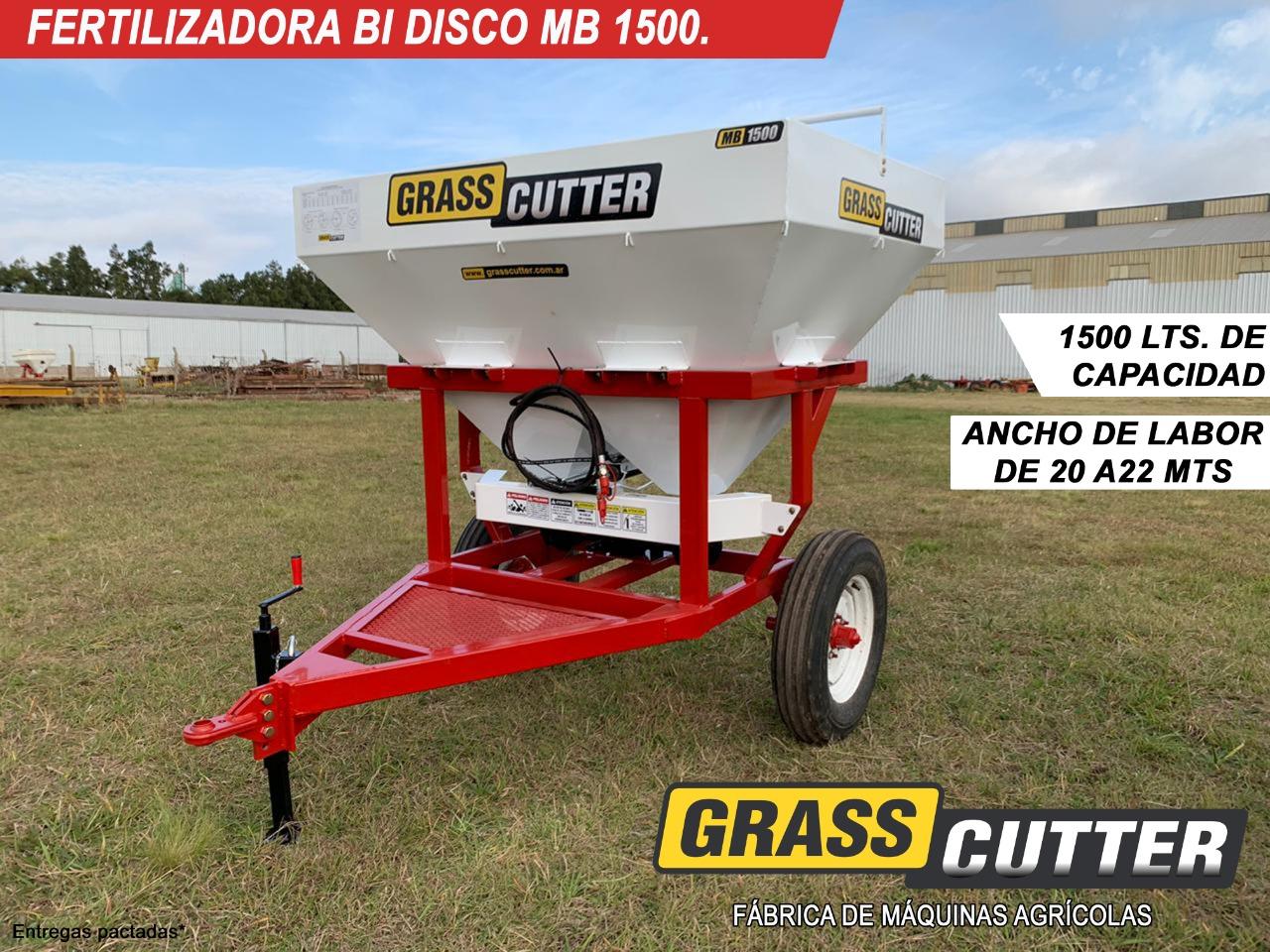 FERTILIZADORA GRASS-CUTTER MB 1500 BIDISCO