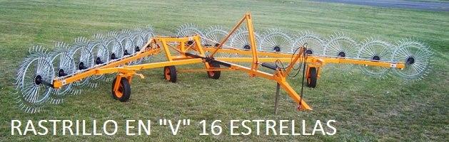 """ALSER ANCA - RASTRILLO EN """"V"""" DE 16 ESTRELLAS"""