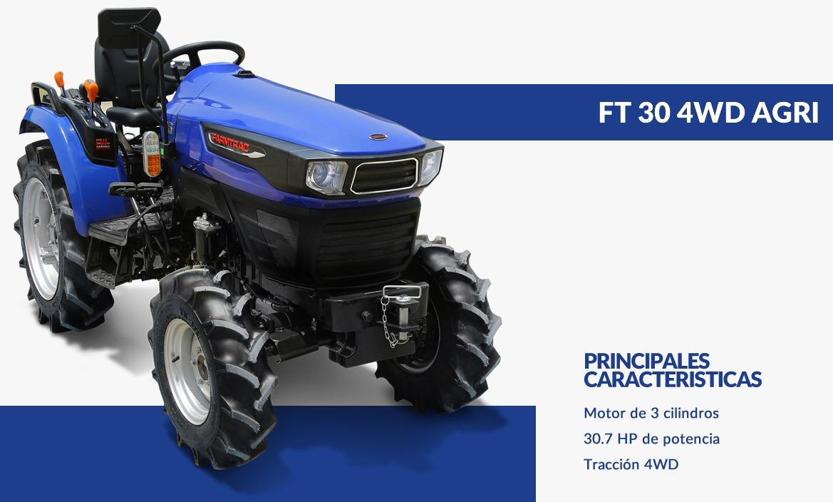 FARMTRAC- TRACTOR 30 4WD AGRI