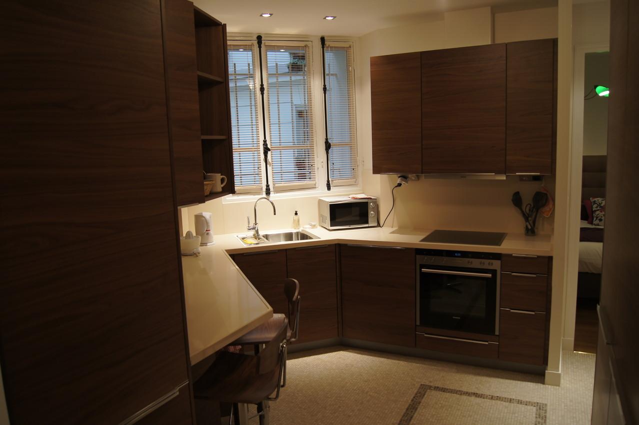 After renovation: kitchen