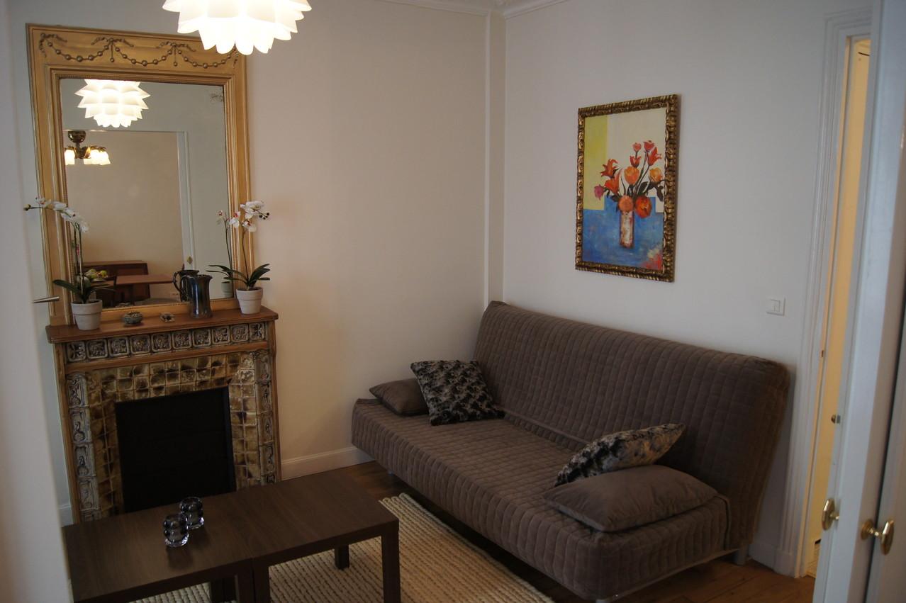 After renovation: living room
