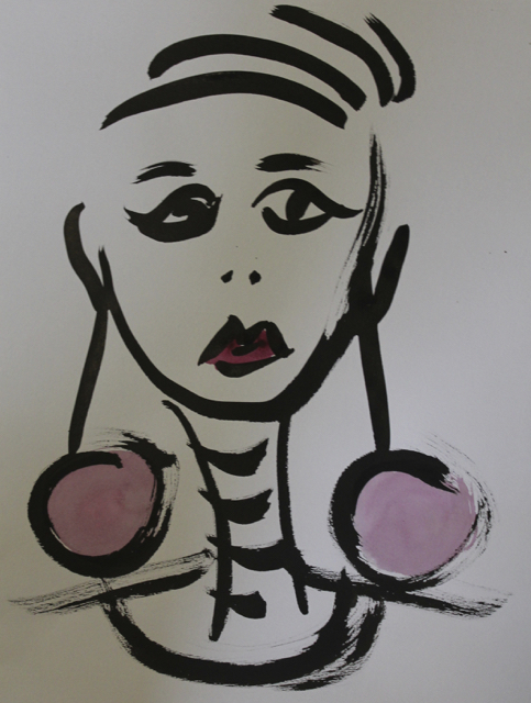 And what now?, 2013.  und jetzt?, 2013. Sumi Ink on paper, 26,5x35,5cm. (AVAILABLE) CARINA SCHUBERT