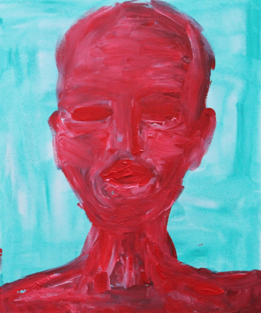 Hothead, 2013. Acrylic on canvas, 50x60cm. (AVAILABLE) CARINA SCHUBERT