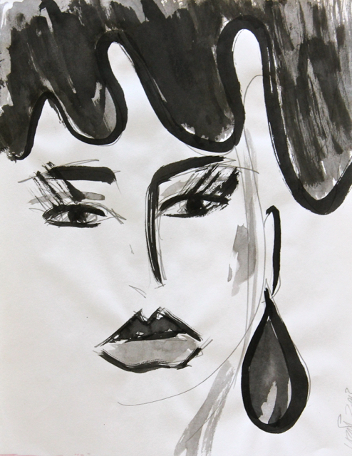 Memories, 2013. Sumi Ink on paper, 22,5x29cm. (AVAILABLE) CARINA SCHUBERT