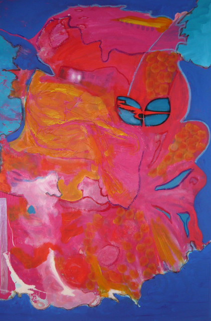 Like a Fish, 2009. Acrylic on canvas, 80x120cm. (AVAILABLE) CARINA SCHUBERT