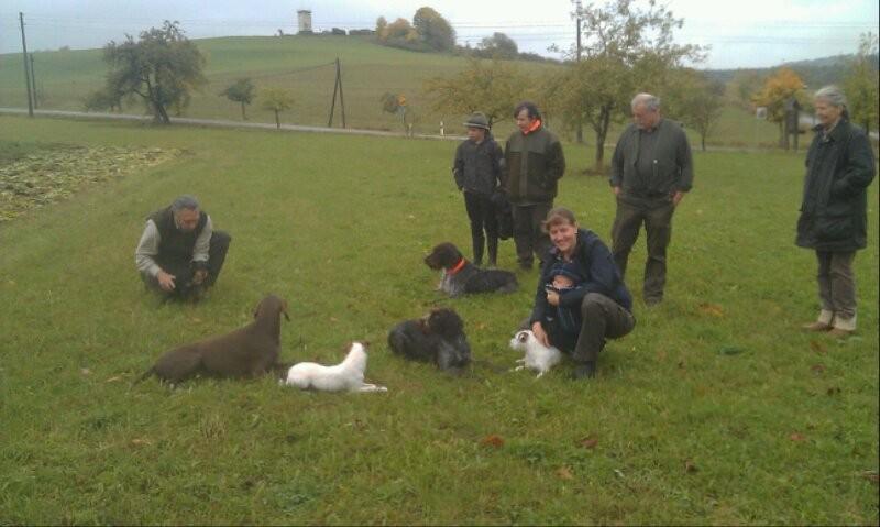 Die Teilnehmer an der Schwarzwildgatterübung in Meiningen