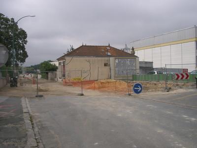 Maison avant démolition pour travaux de la rue