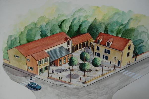 Tableau - Aménagement de la ferme - Auteur ?? - Archives Municipales