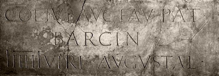 Lapida encontrada en Barcino