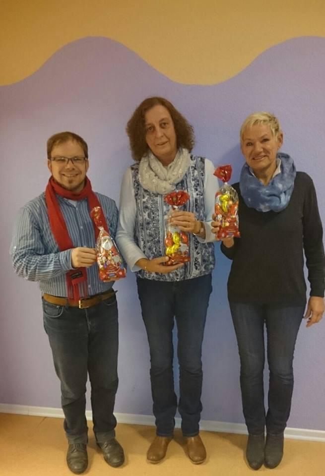 Ratsherr Sebastian H. Seidel, Leiterin Karin Fritsche und Ratsfrau Gesche Marxfeld (v.l.n.r.)