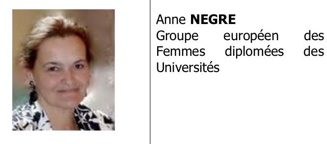 Déclaration de motivation de Anne Nègre à la Présidence de la Conférence des ONG du Conseil de l'Europe