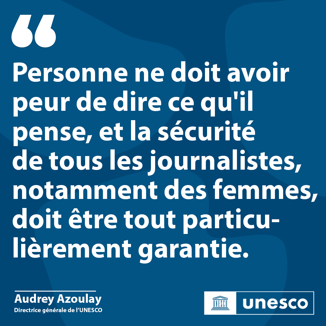 L'UNESCO appelle à garantir la liberté d'expression et la sécurité des journalistes & des femmes en Afghanistan