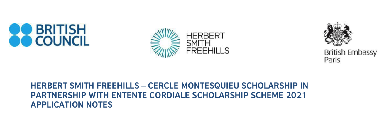 Bourse Herbert Smith Freehills en partenariat avec Entente Cordiale