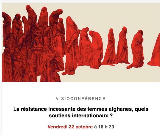 """Visioconférence – """"La résistance incessante des femmes afghanes, quels soutiens internationaux ? """""""
