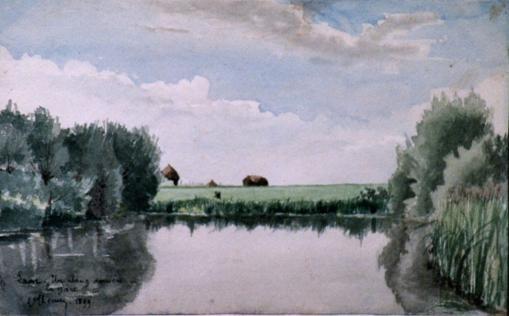 Laon - Un étang derrière la gare - 1899