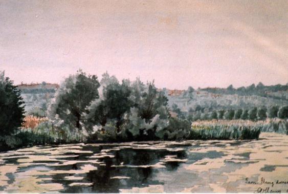 Laon - Etang derrière la gare - 1910