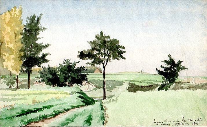 Laon - Chemin de Laneuville à Loisy - 1901