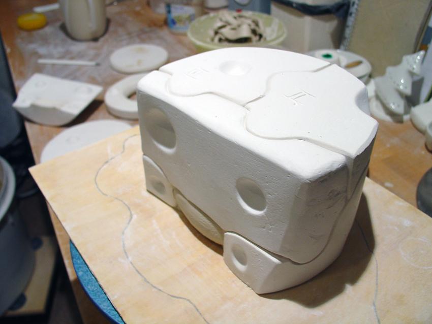 Handgearbeitete Gießform für Porzellan