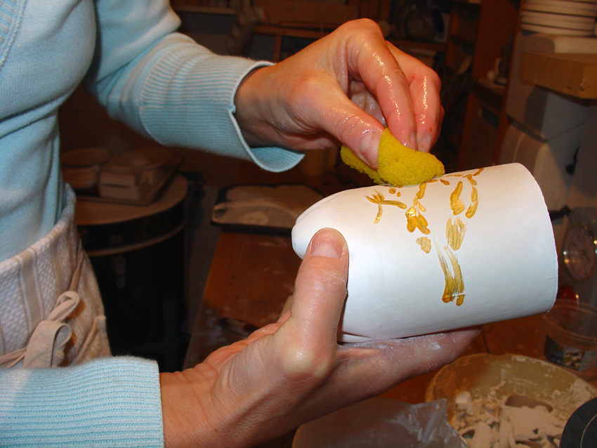 Technik Porzellan Wischtechnik