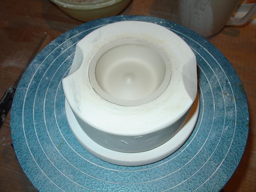 Porzellan in der Form