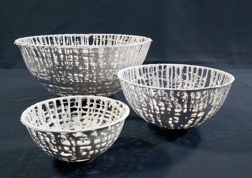 Unikatschalen aus Porzellan