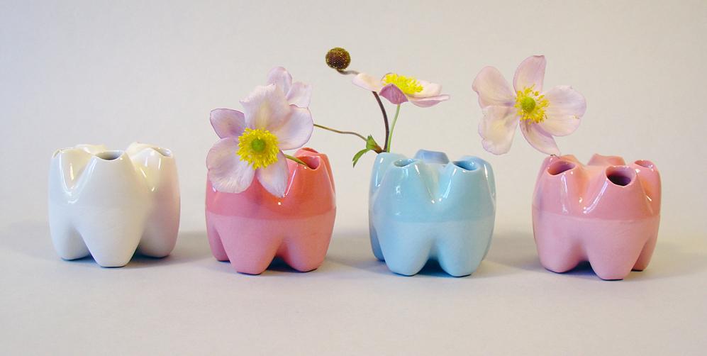 save5 Vase in Pastelltönen