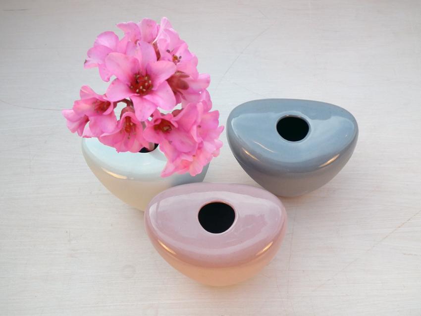 Vase in Pastelltönen