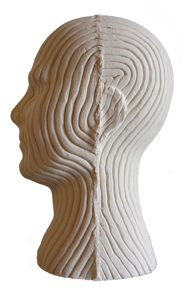 Kopf aus Keramik