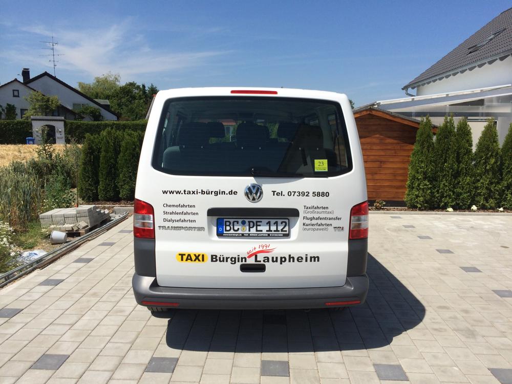 VW T5 Bus, dass Taxi für bis zu 9 Personen und Gepäck