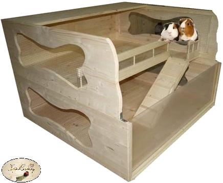 luxus meerschweinchen gehege meerschweinchenstall happy pig artgerechte gehege f r. Black Bedroom Furniture Sets. Home Design Ideas