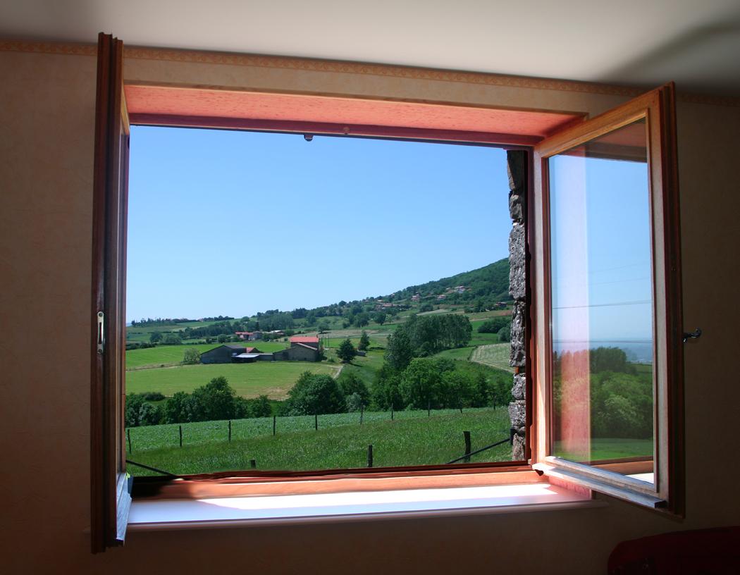 Vue depuis la fenêtre du séjour